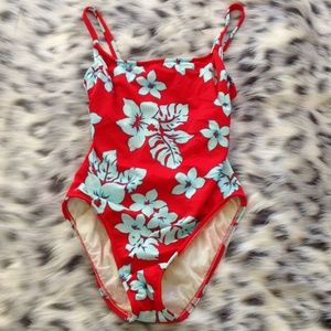 Red/Blue 1 piece Bathing Suit